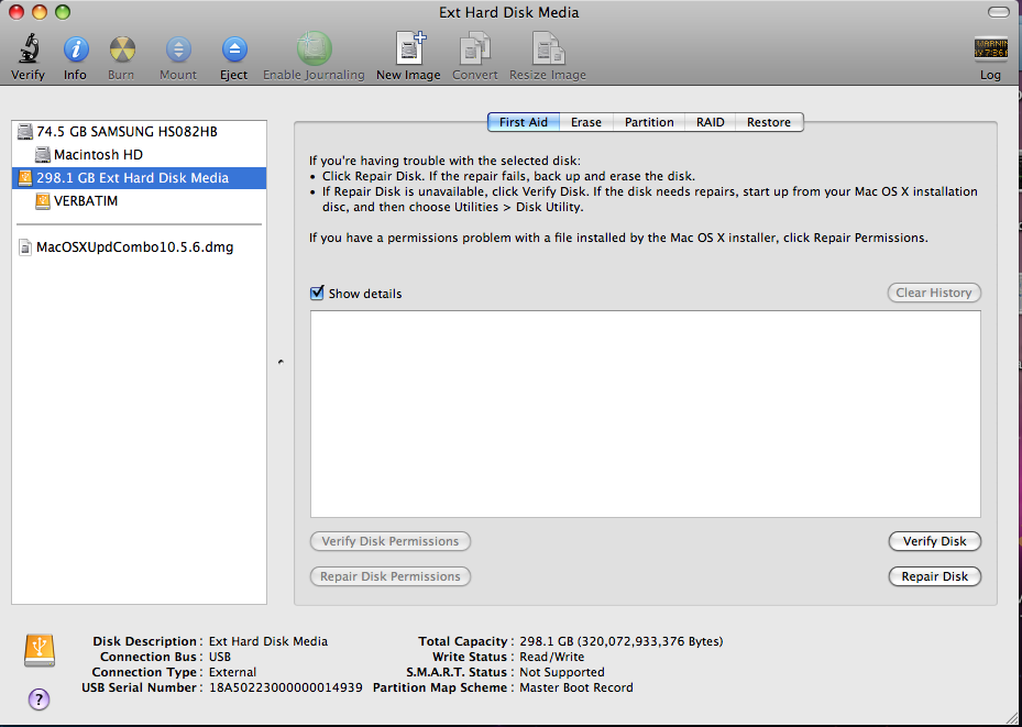 Method 2: Check if the external hard drive is formatted for Mac