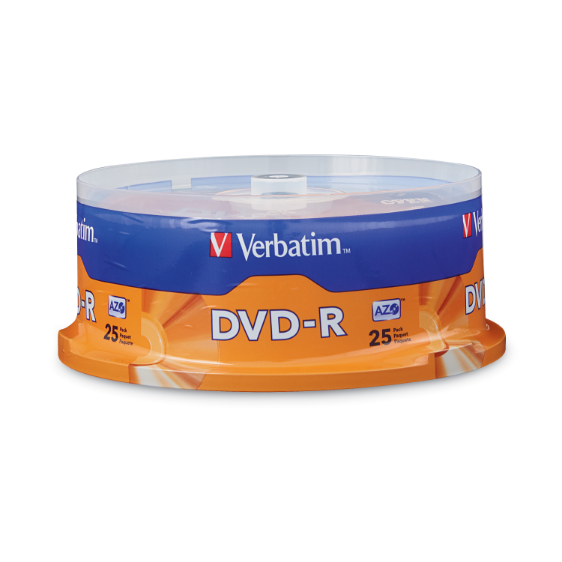 AZO DVD-R 4.7GB 16X with Branded Surface - 25pk Spindle