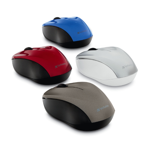 Silent Wireless Blue LED Mice (Group)